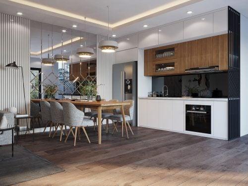 Thiết kế nội thất hiện đại nhà anh Đức ( CĐT : Anh Đức – Phú Thọ )
