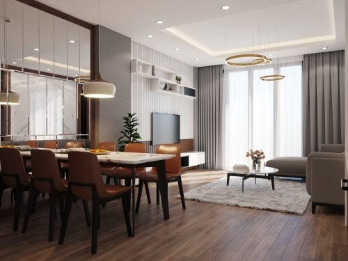 Thiết kế nội thất hiện đại nhà anh Dũng ( CĐT : Anh Dũng - Hà Nội )