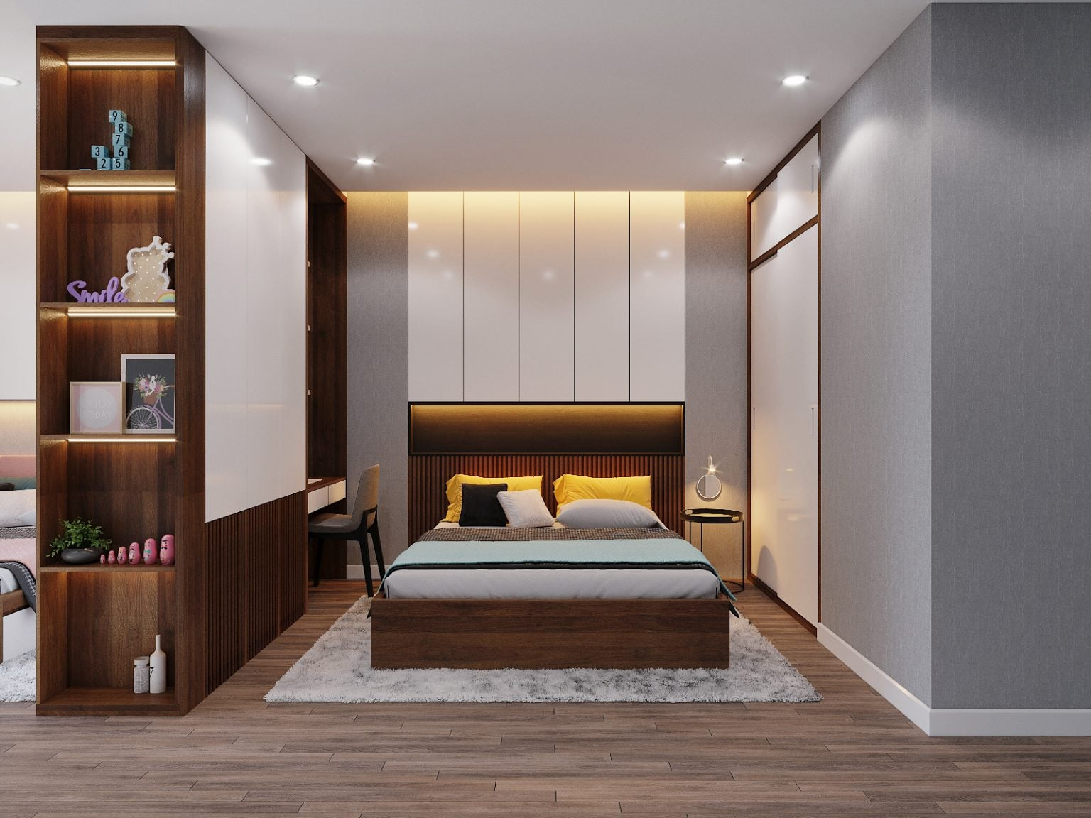 Thiết kế nội thất hiện đại nhà anh Phong ( CĐT : Anh Phong - Hà Nội )