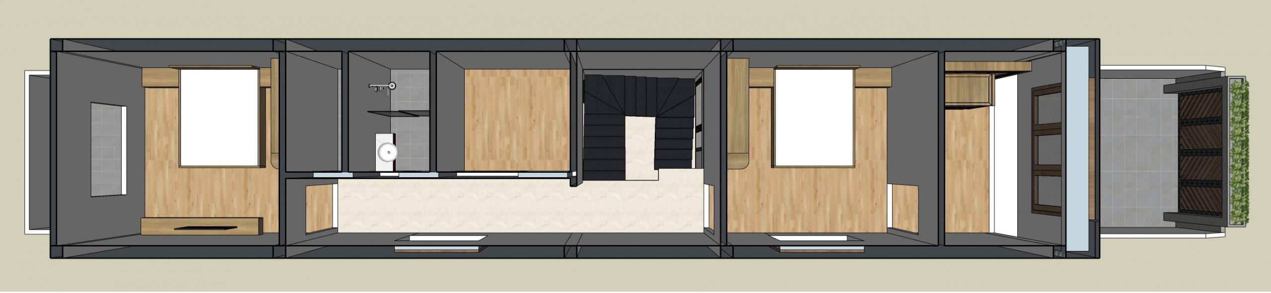 Mặt bằng nội thất tầng 2