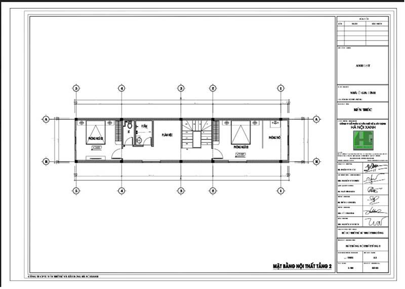Mặt bằng CAD nội thất tầng 2