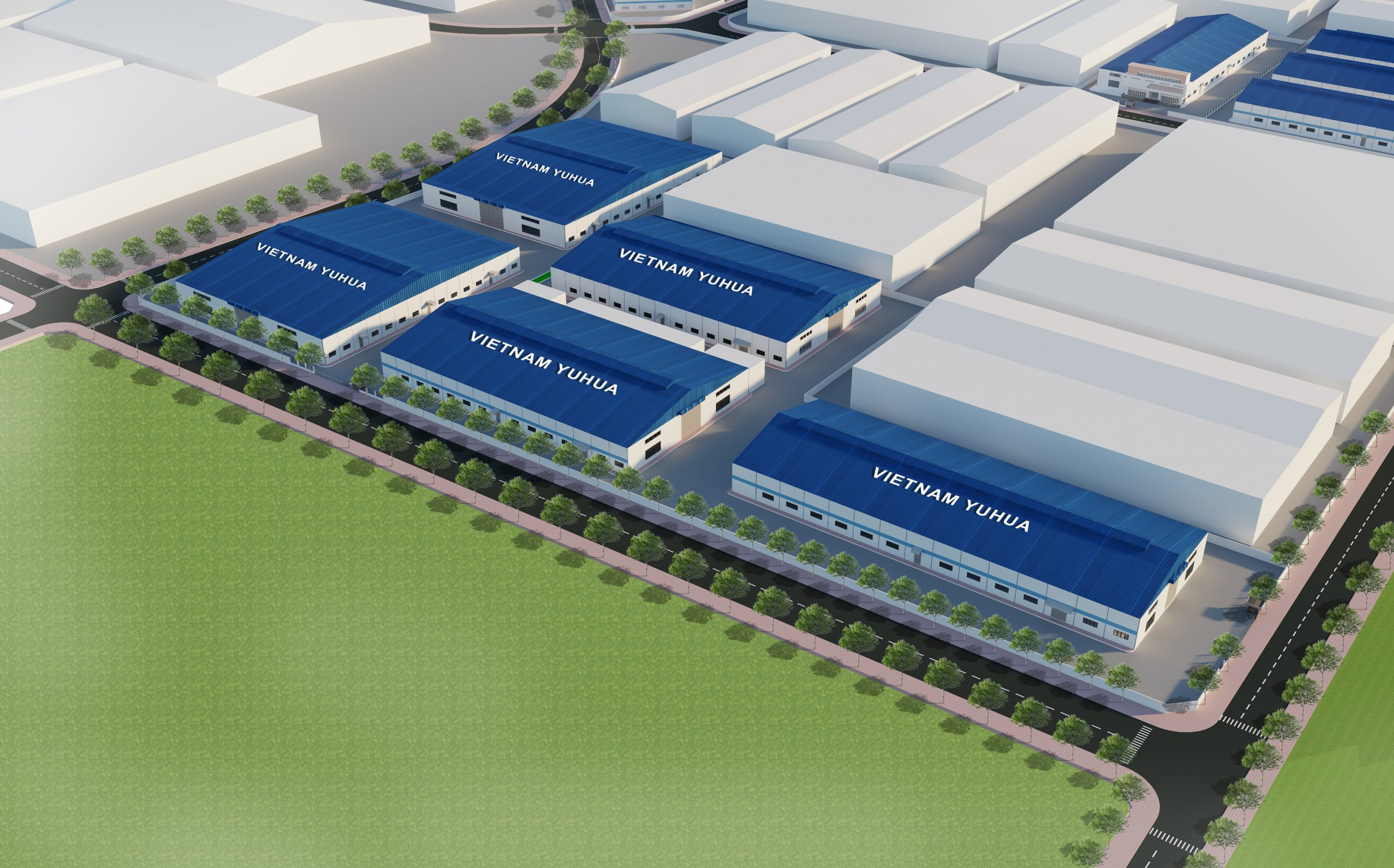 Thiết kế nhà máy YUHUA VIỆT NAM