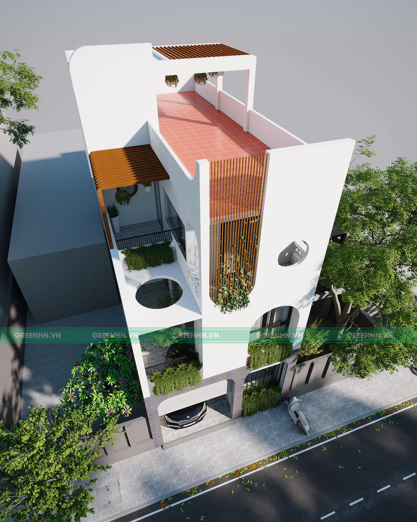Nhà phố phong cách hiện đại - anh Tuấn