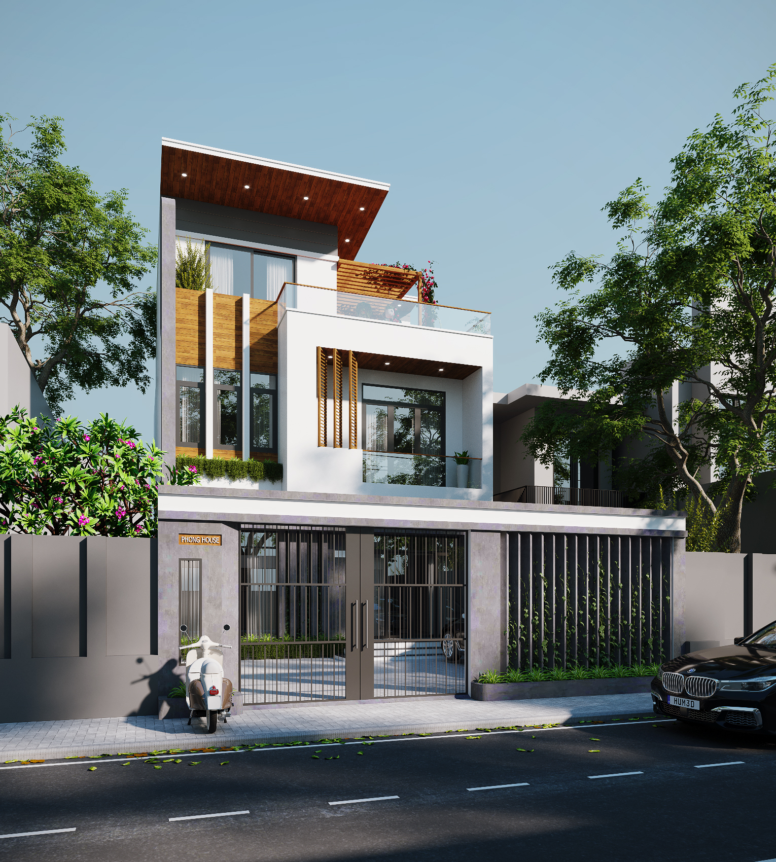 Nhà anh Phong- Nhà phố phong cách hiện đại