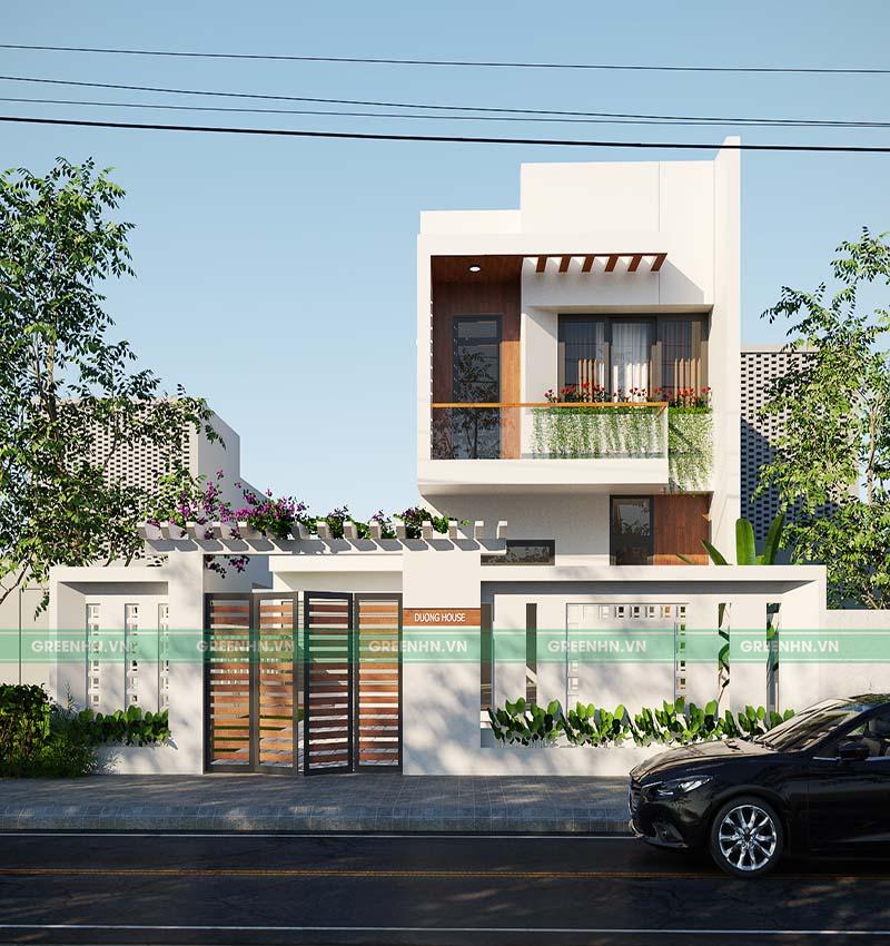 Nhà 2 tầng phong cách hiện đại