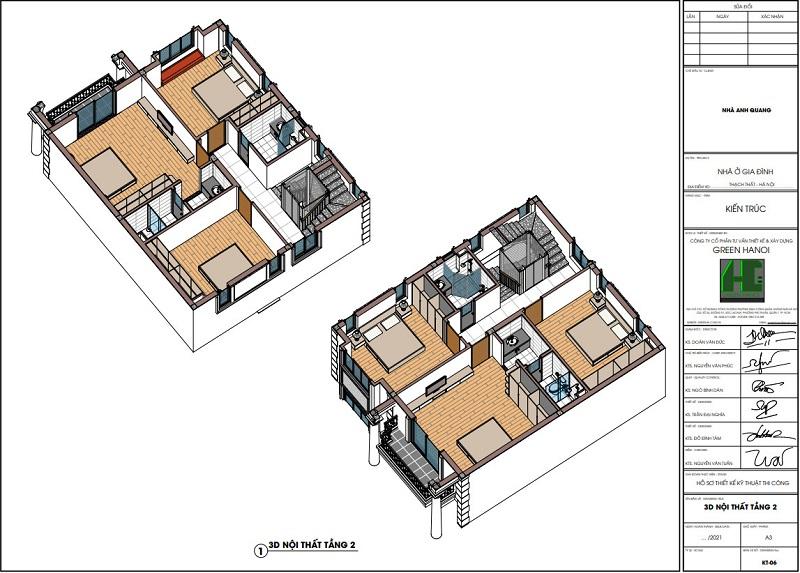 Ảnh 3d nội thất tầng 2