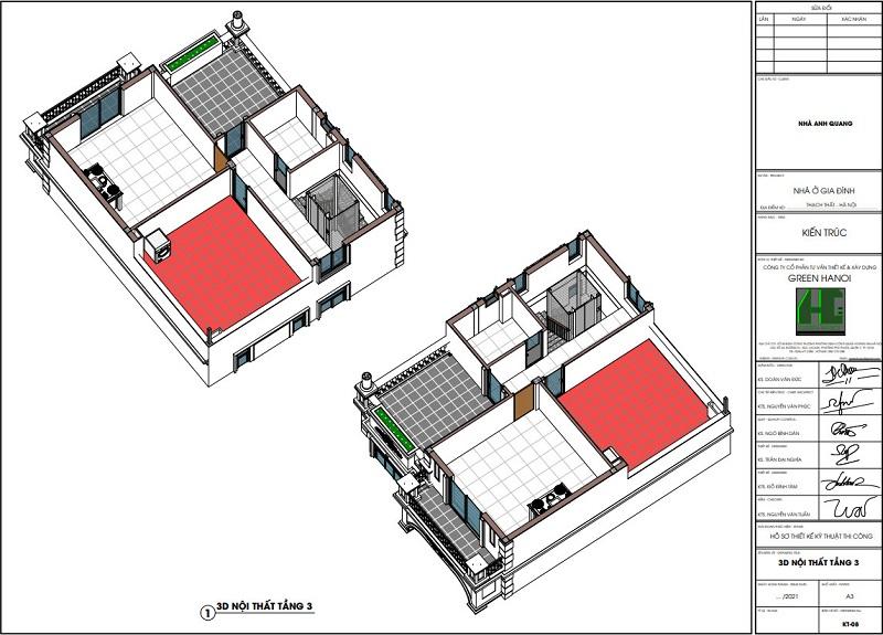 Ảnh 3d nội thất tầng 3