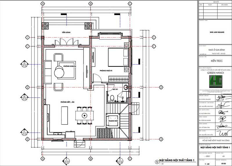 Ảnh mặt bằng CAD nội thất tầng 1