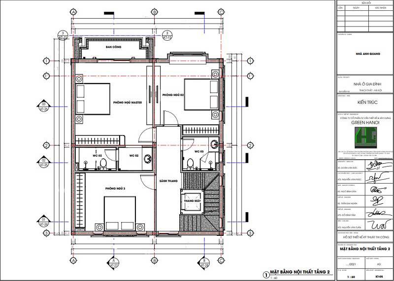 Ảnh mặt bằng CAD nội thất tầng 2