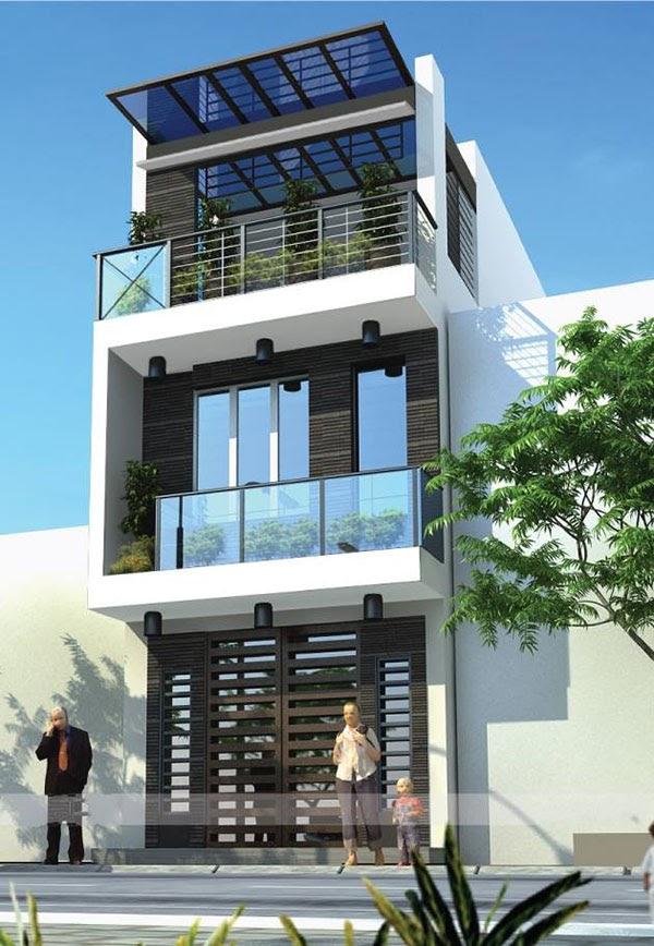 Ngôi nhà hiện đại, tiện ích gồm đầy đủ các phòng chức năng -xây nhà trọn gói 30m2