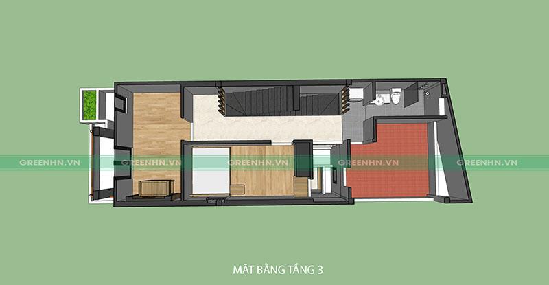 Mô hình thiết kế tầng 3 nhà anh Sơn