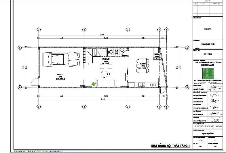 ảnh mặt bằng CAD tầng 1