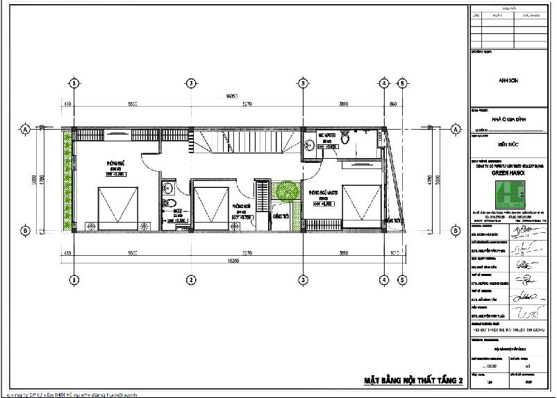 ảnh mặt bằng CAD tầng 2