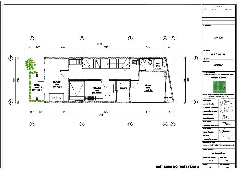 ảnh mặt bằng CAD tầng 3