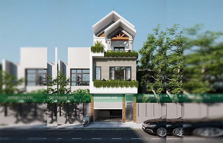 Dự án thiết kế nhà phố tại Gia Lâm - nhà anh Sơn