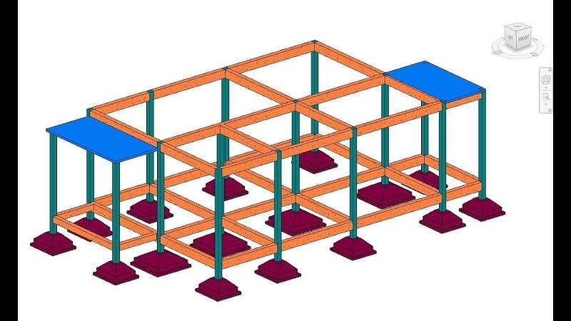 mô hình móng đơn trong xây dựng
