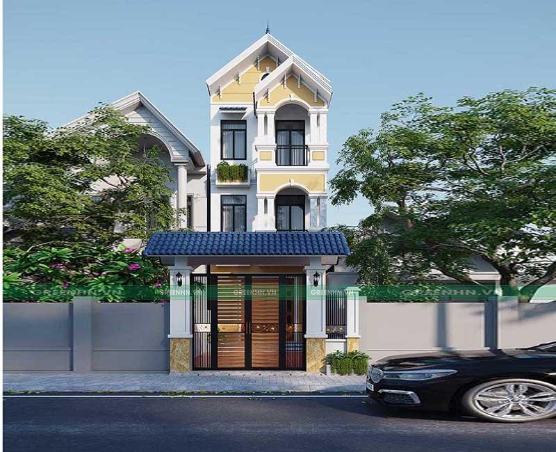 Dự án thiết kế nhà phố nhà anh Hà ở Chương Mỹ