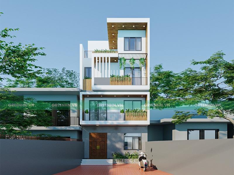 Thiết kế nhà phố phong cách hiện đại