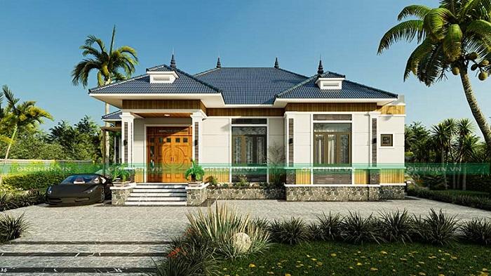 Nhà cấp 4 mái thái của nhà anh Toàn ở Yên Bái