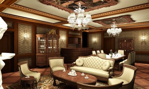 Mẫu trần thạch cao phòng khách cổ điển