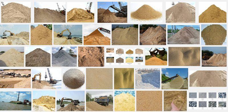 Các loại cát xây dựng được sử dụng phổ biến hiện nay